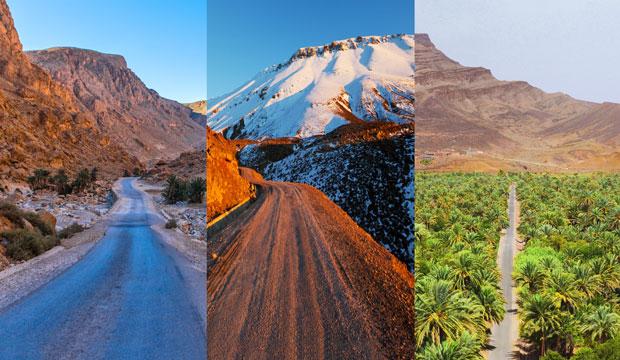 Dormir en el desierto del Sáhara implica atravesar multiples paisajes y si quieres dormir en jaimas desde Marrakech te gustará saber que verás muchos paisajes por el camino