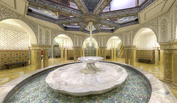 El pabellón de Marruecos de la Expo 92 tiene una sala de abluciones en su planta sótano