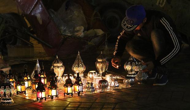 En jemaa el fna también hay puestos de venta ambulante