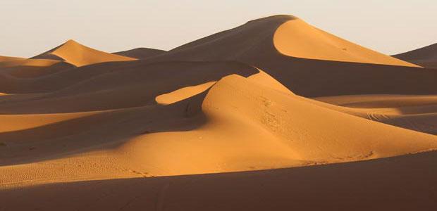 Erg Chegaga es el otro gran erg del desierto del Sáhara marroquí