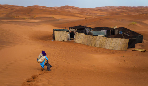 Un campamento es tu respuesta si buscas dónde dormir en Merzouga
