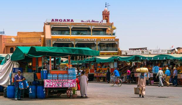 Yamaa el fna está abierto desde las 9 de la mañana a la 1 de la mañana, aproximadamente