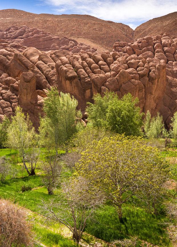 Dades es un valle de Marruecos donde abundan las gargantas y los cañones