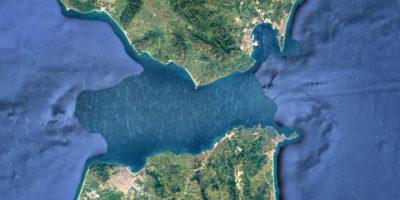 El Estrecho de Gibraltar visto desde el aire