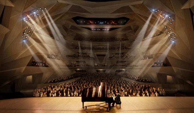 El Gran Teatro de Rabat parece que nace directamente del suelo, arqueándose hacia el cielo con sus imposibles curvas