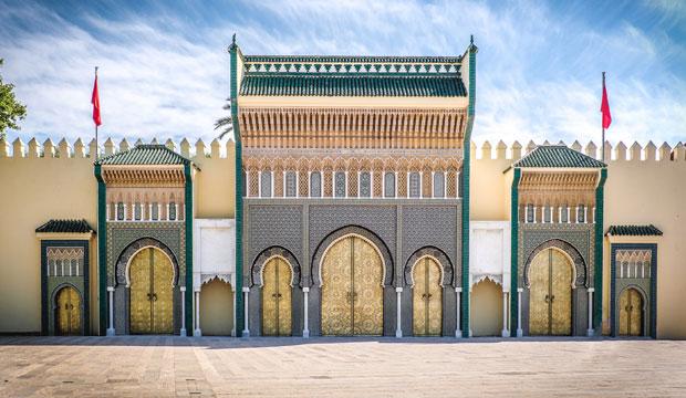 El Palacio Real de Fez tiene siete puertas de bronce