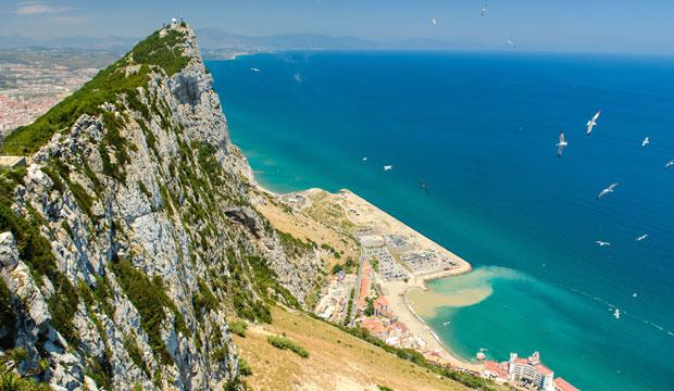 El Peñón de Gibraltar era, según la leyenda, uno de los pilares de Hércules