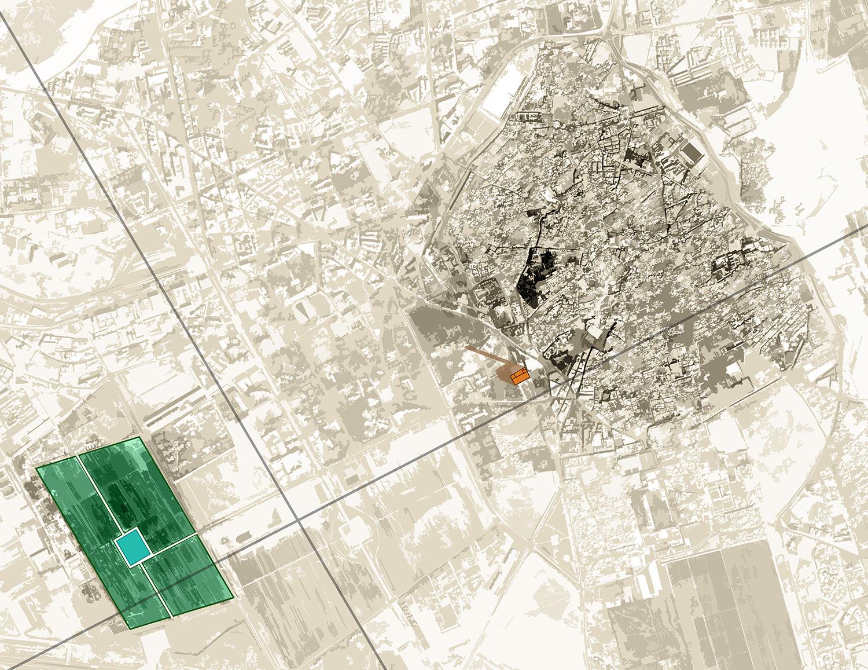 En este mapa de los Jardines de la Menara en Marrakech ver los Jardines, el Pabellón de la Menara y la Koutoubia