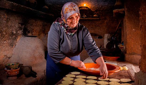 La cocina bereber es uno de los mayores valores de la Kasbah Tamadot