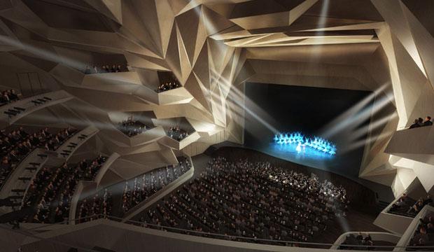 Las líneas onduladas del Gran Teatro de Rabat recuerdan las curvas de la caligrafía árabe