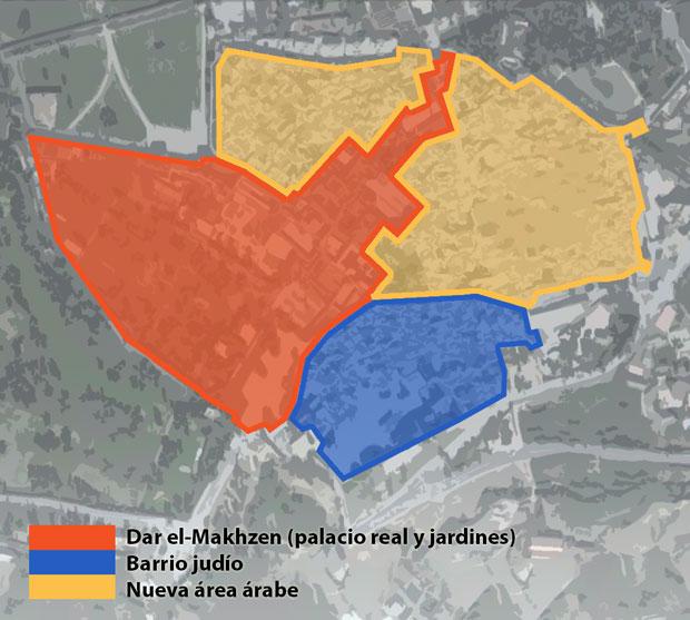 Mapa de la medina Fez el Jdid
