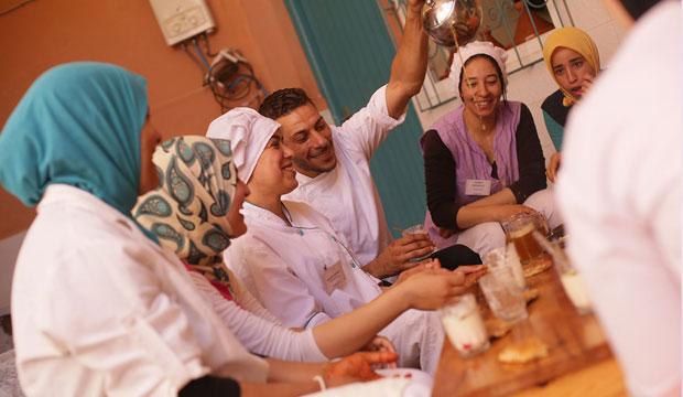 El Amal restaurant en Marrakech ofrece clases de cocina marroquí abiertas al público