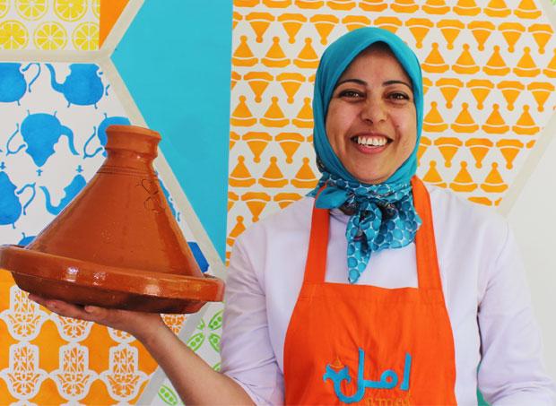 En el Restaurante Amal de Marrakech los restos de comida se utilizan para compostaje y abono
