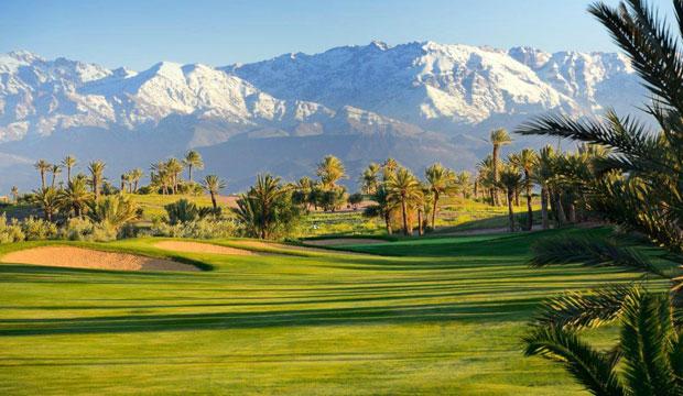 Assoufid es uno de los campos de golf de Marruecos con unas impresionantes vistas del Atlas