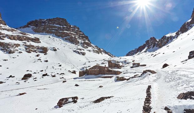 El Toubkal es uno de lugares más visitados del invierno marroquí