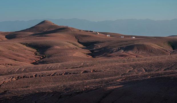 El desierto de Agafay está situado a las afueras de Marrakech