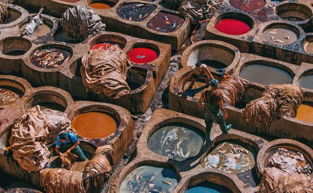 La plaza de los curtidores de Fez es la vista desde las alturas más icónica de todo Marruecos