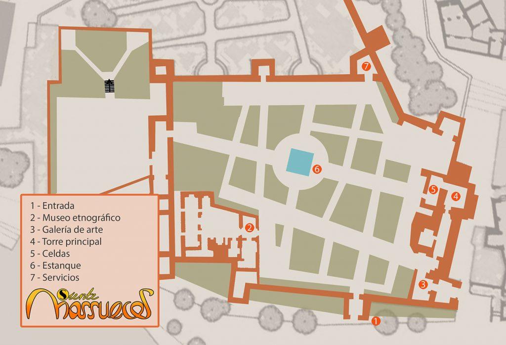 Mapa de la Alcazaba de Chaouen