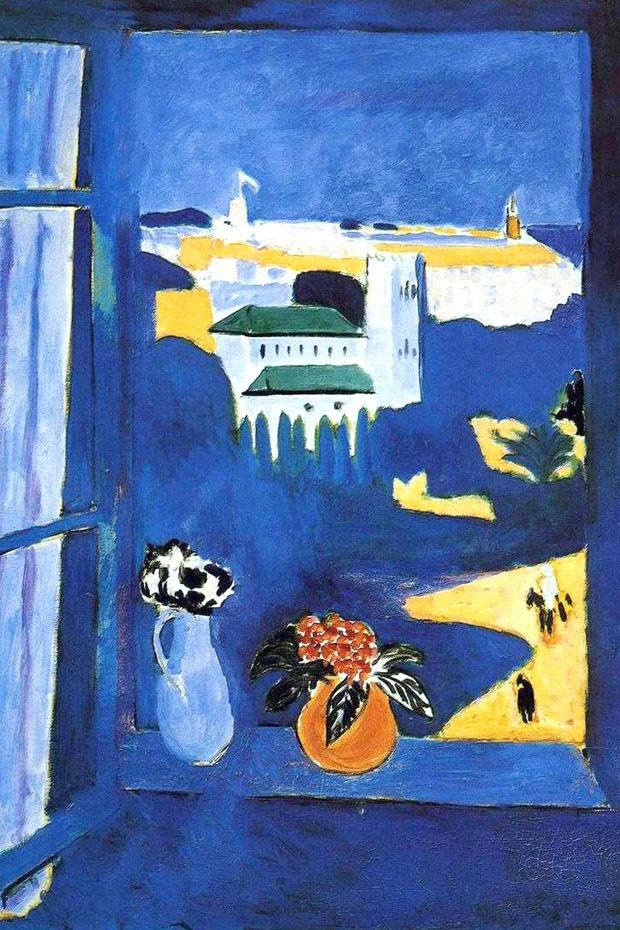 Paisaje visto desde una ventana, pintura de Henri Matisse en Tánger