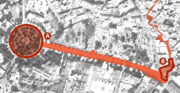 Dos de los lugares en Chefchaouen que ver son la Plaza Mohammed V y la Bab el Ain