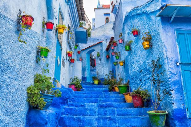El lugar más fotografiado que visitar en Chefchaouen es el Callejón El Asri