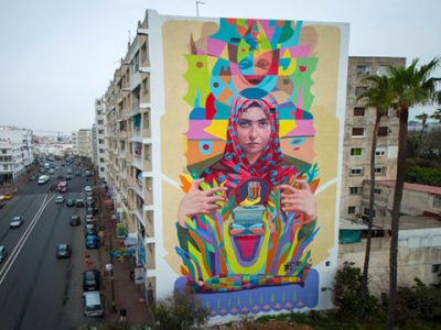 Jidar, toiles de rue es el festival de arte callejero en Rabat