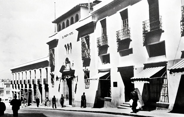 Hotel Minzah en Tánger. El minzah es un hotel en Tánger (Marruecos)