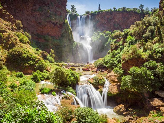 Las Cataratas de Ouzoud son, problablemente, las mejores cascadas en Marruecos y las más conocidas