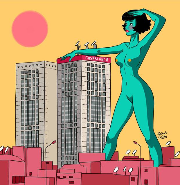 Zainab Fasiki plantea una mirada no sexual al cuerpo femenino