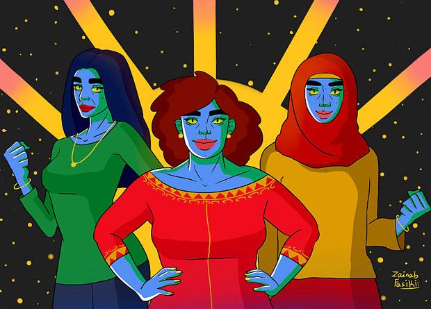 Zainab Fasiki propone la lucha a través del comic