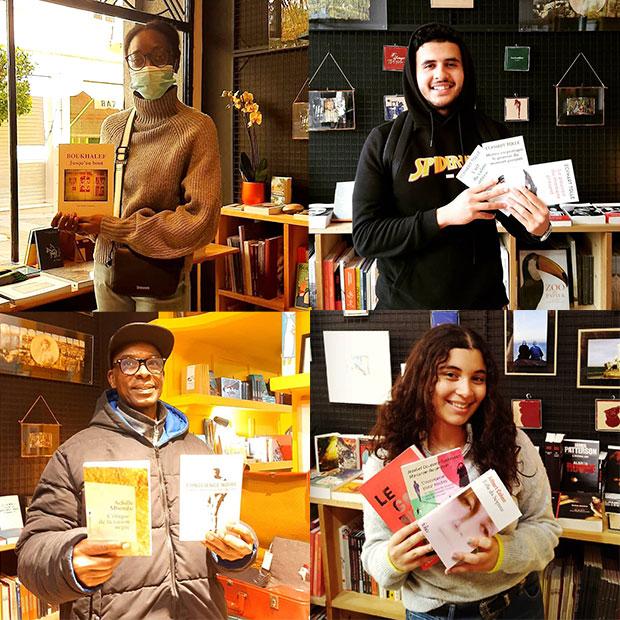 En la librería Les Insolites, lectores con menos recursos pueden adquirir una obra de forma gratuita