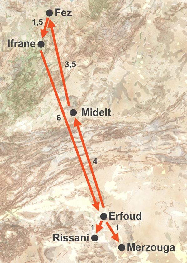 Excursión al desierto de Merzouga desde Fez de 2 días