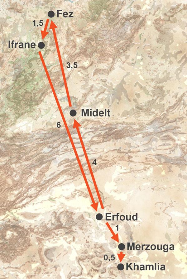 Excursión a Merzouga desde Fez de 3 días