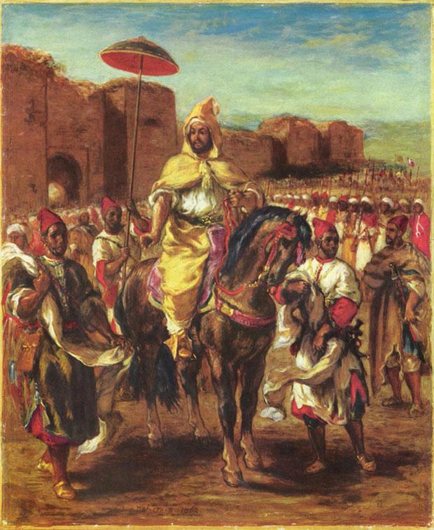 Eugene Delacroix y Marruecos. Retrato del sultán de Marruecos