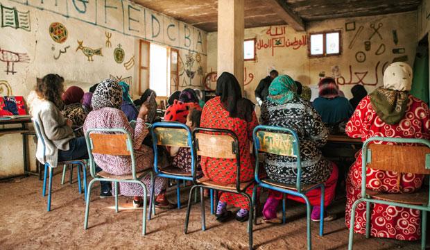 Andrea Bury, una de las directoras del riad Anayela, creó la Fundación Abury